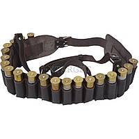 Кожаный патронташ для патронов гладкоствольного оружия на 20 шт
