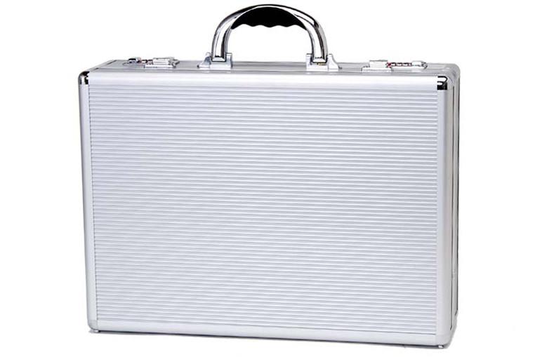 Алюминиевый атташе кейс TZ Case Silver Stripes