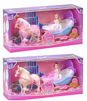 Карета с лошадью и куклой 28922B