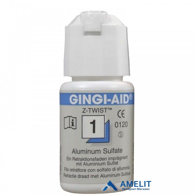 Нить ретракционная Джинджи-Аид, №1, синяя (Gingi-Aid), 1шт.