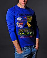 Мужская синяя кофта - Frankie Morello