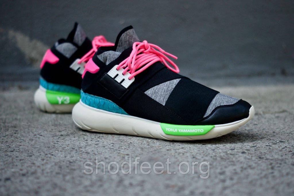 Женские кроссовки Adidas Y-3 Qasa Black Neon