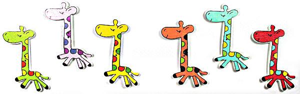 Дерев декор-жираф 30х55,