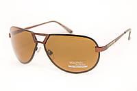 Мужские солнцезащитные очки в коричневой оправе