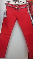 Весенние джинсы для девочки коралл 5-8 лет
