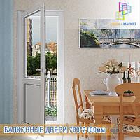 Пластиковые балконные двери Вишневое, фото 1