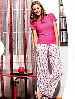 Летняя хлопковая пижама со штанами