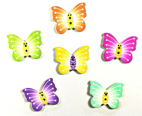 Дерев декор-бабочка 20х30, фото 2