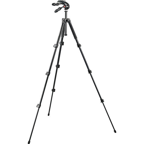 Manfrotto MK293A4-D3Q2 Aluminum Tripod 4S with 3-Way Pan Head