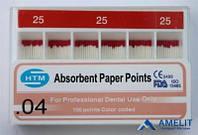 Штифты бумажные «Pearl Endopia», конусность 0.4 (Корея), 100шт./упак.