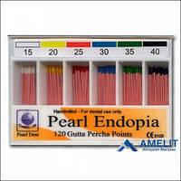 Штифты гуттаперчевые «Pearl Endopia», в ассортименте (Корея), 120шт./упак.