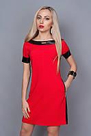 Яркое летнее платье из итальянской ткани приталенного фасона