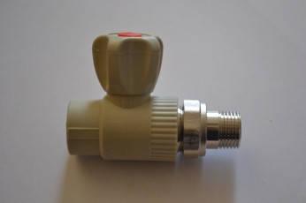 Кран для отопления, радиаторный прямой d 20, фото 2