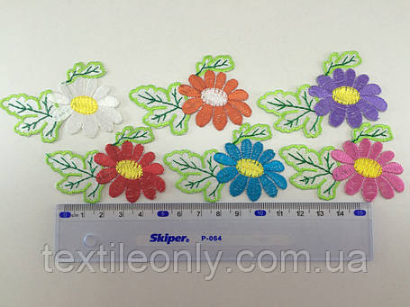 Нашивка цветочек , цвет фиолетовый, фото 2