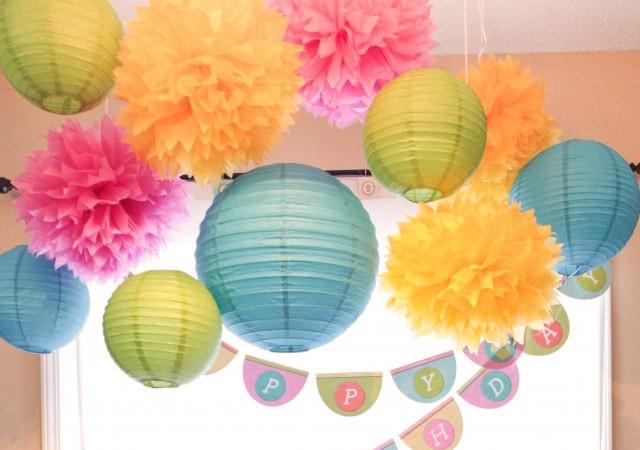 бумажные фонарики для декора