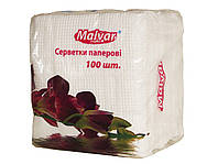 """Салфетки бумажные """"Malvar"""" белые 100 шт. (16 шт. в уп.)"""