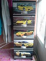 Комод пластиковый Ферари элиф на 5 ящиков с верхней крышкой