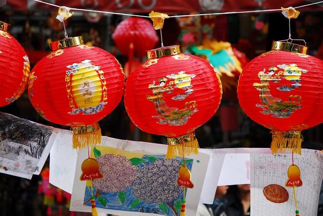китайские фонарики для декора