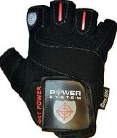 Перчатки для фитнеса POWER SYSTEM с твердым уплотнением GET POWER