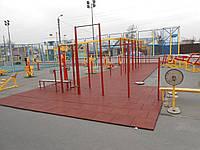 Тротуарная резиновая модульная плитка для спортивных площадок