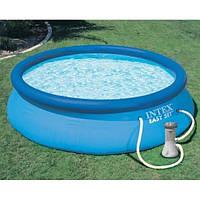 Надувной бассейн с фильтрующим насосом Intex 28132, 366х76 см