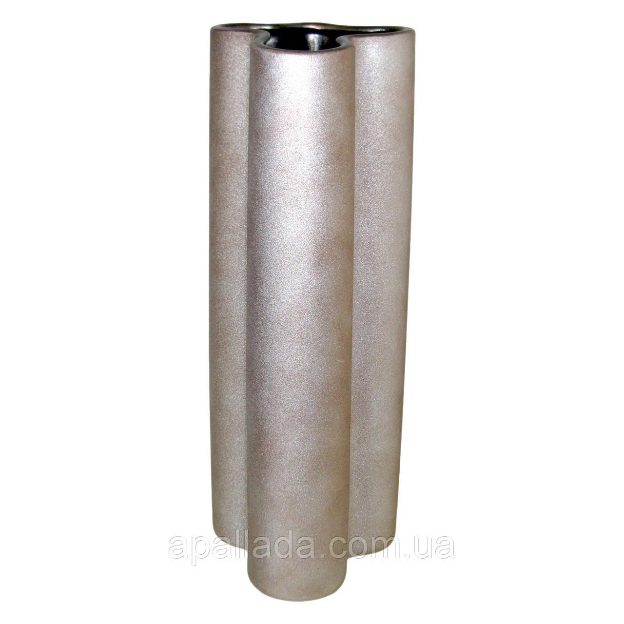 Ваза керамическая цвета серебра