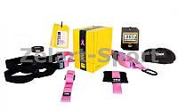 TRX Петли подвесные тренировочные Pro pack home pink P3 FI-3726-P