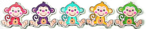 Дерев декор-обезьяна 25х30