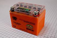 Аккумулятор 4Аh YTX4L-BS (гелевый, оранж) 113/70/85мм с ИНДИКАТОРОМ (OUTDO) 2017 год