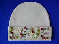 Детская шапочка с красивым узором