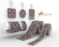 Схемы на ткани для вышивания бисером украшений СЕРИЯ АКСЕССУАРОВ 5