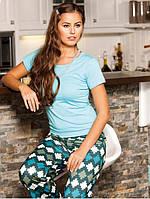 Женская хлопковая пижама летняя