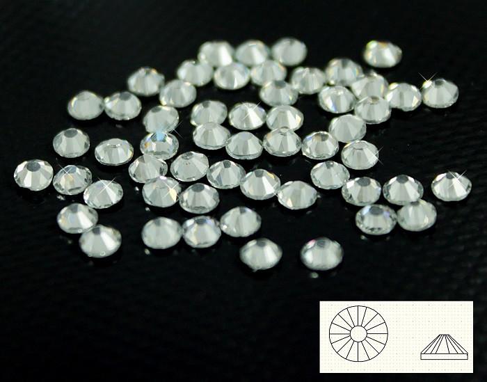 Камни-стразы клеевые №16,белые - 144 шт.