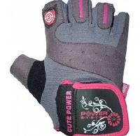 Розовые перчатки Power System для фитнеса из легкой и эластичной ткани