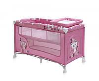Манеж-кровать, Bertoni NANNY 2L (pink kitten),ПЕЛЕНАТОР,сумка для переноски, матрас в комплекте