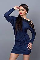 Ультрамодное платье-туника из замшевого трикотажа