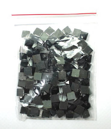 Камни-стразы клеевые 5х5 чёрные-упак 100 шт., фото 2