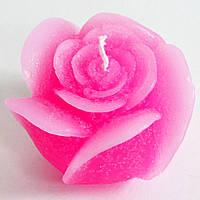 Свеча ручной работы Роза. Подарок на День Влюбленных