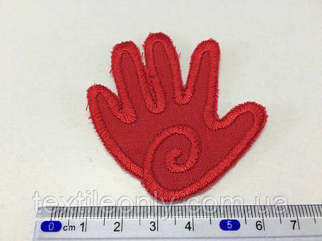 Нашивка Долонька ,колір червоний, фото 2