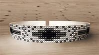 Схема на ткани для вышивания бисером AO-001. УКРАШЕНИЕ НА ШЕЮ 1