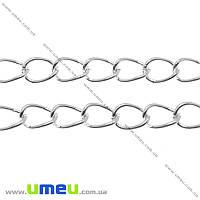 Цепь, Светлое серебро, 5,5х4 мм, 1 м (ZEP-015178)