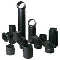 Черные стальные дымоходи