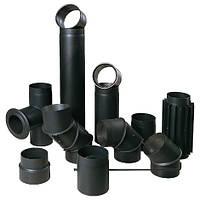 Чорні сталеві димоходи
