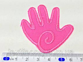 Нашивка Долонька ,колір рожевий