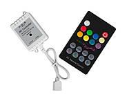 Контроллер RF RGB 6A 18 buttons (Audio), эффект цветомузыки, 12V, 2А/канал, 72W, фото 1
