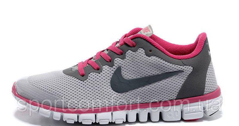 Кроссовки Nike Free 3.0 V2 All серые с розовым