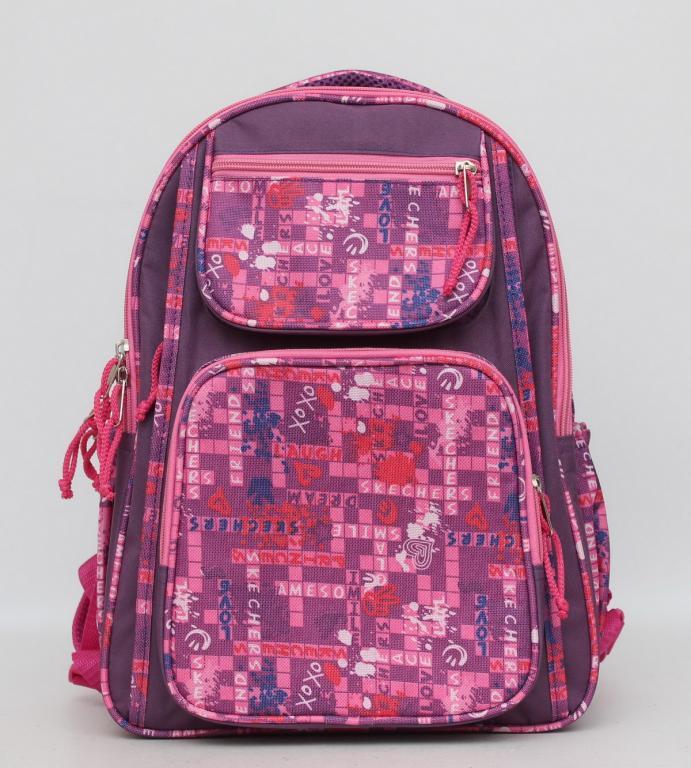 Школьный рюкзак для девочки. Красивый рюкзак. Ортопедический рюкзак. Прочный школьный рюкзак. Код: КТМ247.