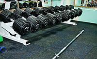 Резиновая плитка для тренажерных залов и спорткомплексов