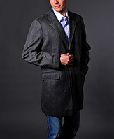 Мужское серое пальто - Brioni