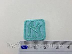 Нашивка New York (квадрат) , цвет бирюзовый